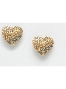 Champagne Ombre Heart Stud Earrings Champagne - predominant colour: gold; occasions: evening, occasion; style: stud; length: short; size: small/fine; material: chain/metal; fastening: pierced; finish: metallic; season: a/w 2016