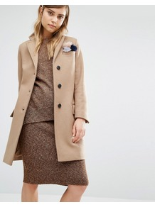 Classic Chesterfield Coat Camel - pattern: plain; style: single breasted; fit: slim fit; collar: standard lapel/rever collar; length: mid thigh; predominant colour: camel; occasions: casual; fibres: wool - mix; sleeve length: long sleeve; sleeve style: standard; collar break: medium; pattern type: fabric; texture group: woven bulky/heavy; season: a/w 2016