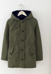Penzance Parka Khaki Women, Khaki - pattern: plain; length: below the bottom; fit: loose; style: parka; collar: high neck; predominant colour: khaki; occasions: casual; fibres: cotton - mix; waist detail: belted waist/tie at waist/drawstring; sleeve length: long sleeve; sleeve style: standard; texture group: technical outdoor fabrics; collar break: high; pattern type: fabric; season: a/w 2016