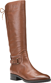 Felicity A Block Heeled Knee High Boots - predominant colour: tan; occasions: casual, creative work; material: leather; heel height: mid; heel: block; toe: round toe; boot length: knee; style: standard; finish: plain; pattern: plain; season: a/w 2015