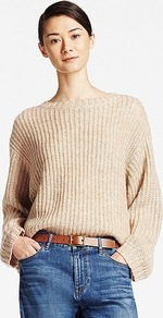Women Mohair Blend Oversized Sweater Beige - pattern: plain; style: standard; predominant colour: nude; occasions: casual; length: standard; fibres: wool - mix; fit: loose; neckline: crew; sleeve length: long sleeve; sleeve style: standard; texture group: knits/crochet; pattern type: knitted - fine stitch; season: a/w 2016