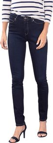 Slim Fit High Waist Jeans - style: skinny leg; length: standard; pattern: plain; waist: high rise; pocket detail: traditional 5 pocket; predominant colour: navy; occasions: casual; fibres: cotton - stretch; texture group: denim; pattern type: fabric; season: a/w 2016