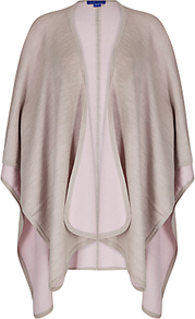 Reversible Cape - pattern: plain; length: below the bottom; collar: shawl/waterfall; fit: loose; style: cape; predominant colour: blush; occasions: casual, creative work; fibres: nylon - mix; sleeve length: long sleeve; texture group: knits/crochet; collar break: low/open; pattern type: fabric; pattern size: standard; sleeve style: cape/poncho sleeve; season: a/w 2016
