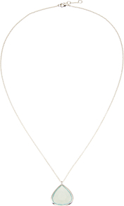 Silver Plated Aqua Chalcedony Teardrop Pendant Necklace, Silver/Blue - secondary colour: ivory/cream; predominant colour: silver; style: pendant; length: mid; size: small/fine; material: chain/metal; finish: metallic; occasions: creative work; season: a/w 2016