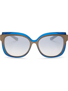 Combo Round Sunglasses, 55mm - predominant colour: diva blue; occasions: casual, holiday; style: round; size: standard; material: plastic/rubber; pattern: plain; finish: plain; season: a/w 2016