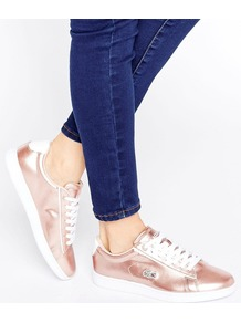 Carnaby Evo Metallic Trainers Rose Gold - secondary colour: white; predominant colour: bronze; occasions: casual, creative work; material: faux leather; heel height: flat; toe: round toe; style: trainers; finish: metallic; pattern: colourblock; season: a/w 2016