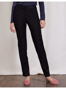 Bistro Trouser Black Women, Black - length: standard; pattern: plain; waist: high rise; predominant colour: black; occasions: work; fibres: cotton - mix; fit: straight leg; pattern type: fabric; texture group: woven light midweight; style: standard; season: a/w 2016