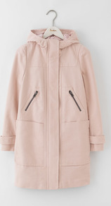 Moleskin Duffle Coat Pink Pearl Women, Pink Pearl - pattern: plain; length: below the bottom; collar: funnel; fit: loose; style: duffle coat; predominant colour: blush; occasions: casual; fibres: cotton - stretch; sleeve length: long sleeve; sleeve style: standard; collar break: high; pattern type: fabric; texture group: woven light midweight; season: a/w 2016