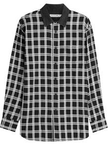 Printed Cotton Shirt Multicolor - neckline: shirt collar/peter pan/zip with opening; pattern: checked/gingham; style: shirt; secondary colour: white; predominant colour: black; occasions: casual; length: standard; fibres: cotton - 100%; fit: body skimming; sleeve length: long sleeve; sleeve style: standard; texture group: cotton feel fabrics; pattern type: fabric; multicoloured: multicoloured; season: a/w 2016