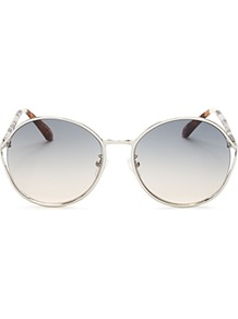 Blythe Oversized Round Sunglasses, 58mm - predominant colour: silver; occasions: casual, holiday; style: round; size: standard; material: chain/metal; pattern: plain; finish: plain; season: a/w 2016