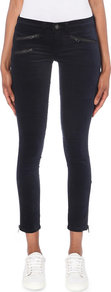 Velvet Skinny Mid Rise Jeans, Women's, Navy Velvet - style: skinny leg; pattern: plain; waist: mid/regular rise; predominant colour: navy; occasions: casual, creative work; length: ankle length; fibres: cotton - mix; jeans detail: dark wash; pattern type: fabric; texture group: velvet/fabrics with pile; season: a/w 2016