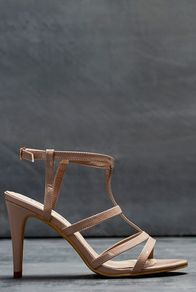 Tall Lts Ella Strappy Sandal At - predominant colour: nude; occasions: evening; material: faux leather; heel height: high; ankle detail: ankle strap; heel: stiletto; toe: open toe/peeptoe; style: strappy; finish: plain; pattern: plain; season: a/w 2016