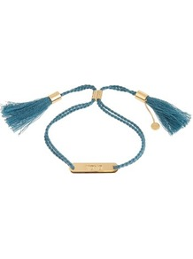 Xoxo Bracelet - predominant colour: royal blue; occasions: casual, creative work; style: friendship/tie; size: standard; material: fabric/cotton; finish: plain; season: a/w 2016