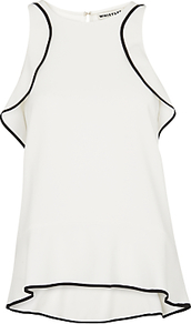Jessica Off The Shoulder Top, Ivory - neckline: round neck; pattern: plain; sleeve style: sleeveless; predominant colour: ivory/cream; occasions: casual, creative work; length: standard; style: top; fibres: polyester/polyamide - 100%; fit: loose; back detail: longer hem at back than at front; sleeve length: sleeveless; texture group: sheer fabrics/chiffon/organza etc.; pattern type: fabric; season: a/w 2016