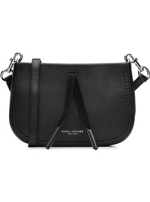 Leather Shoulder Bag Black - predominant colour: black; occasions: casual, creative work; type of pattern: standard; style: shoulder; length: across body/long; size: standard; material: leather; pattern: plain; finish: plain; season: a/w 2016