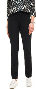 Nydj Black Cindy Slim Jersey Trouser - length: standard; pattern: plain; waist: mid/regular rise; predominant colour: black; occasions: casual, creative work; fibres: viscose/rayon - 100%; fit: slim leg; pattern type: fabric; texture group: jersey - stretchy/drapey; style: standard; season: a/w 2016