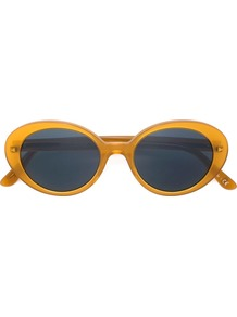 'parquet' Sunglasses, Women's, Yellow/Orange - predominant colour: denim; occasions: casual, holiday; style: cateye; size: standard; material: plastic/rubber; pattern: plain; finish: plain; season: a/w 2016; wardrobe: highlight