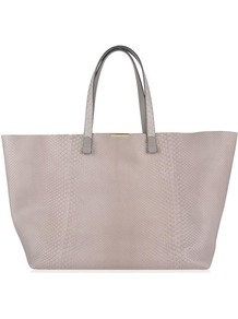 Shopper Bag - predominant colour: blush; occasions: casual, creative work; type of pattern: standard; style: tote; length: handle; size: oversized; material: leather; pattern: plain; finish: plain; season: a/w 2016