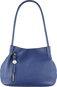 Seymour Medium Leather Shoulder Bag - predominant colour: royal blue; occasions: casual, creative work; type of pattern: standard; style: shoulder; length: shoulder (tucks under arm); size: standard; material: leather; pattern: plain; finish: plain; season: a/w 2016