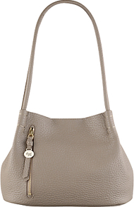 Seymour Medium Leather Shoulder Bag - predominant colour: taupe; occasions: casual, work, creative work; type of pattern: standard; style: shoulder; length: shoulder (tucks under arm); size: standard; material: leather; pattern: plain; finish: plain; season: a/w 2016