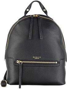 Great Eastern Street Backpack - predominant colour: black; occasions: casual, creative work; type of pattern: standard; style: rucksack; length: rucksack; size: standard; material: leather; pattern: plain; finish: plain; season: a/w 2016