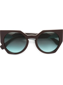 'facets' Sunglasses, Women's, Brown - predominant colour: chocolate brown; occasions: casual, holiday; style: cateye; size: standard; material: plastic/rubber; pattern: plain; finish: plain; season: a/w 2016