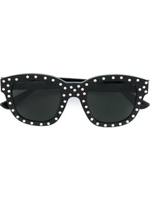 'new Wave 100' Sunglasses, Women's, Black - predominant colour: black; occasions: casual, holiday; style: d frame; size: standard; material: plastic/rubber; pattern: plain; finish: plain; season: a/w 2016