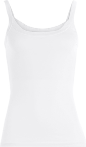 Cotton Vest White - pattern: plain; sleeve style: sleeveless; style: vest top; predominant colour: white; occasions: casual; length: standard; neckline: scoop; fibres: cotton - 100%; fit: body skimming; sleeve length: sleeveless; pattern type: fabric; texture group: jersey - stretchy/drapey; season: a/w 2016