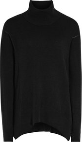 Daveen Womens Cashmere Roll Neck Jumper In Black - pattern: plain; neckline: roll neck; style: standard; predominant colour: black; occasions: casual; length: standard; fit: standard fit; fibres: cashmere - 100%; sleeve length: long sleeve; sleeve style: standard; texture group: knits/crochet; pattern type: knitted - fine stitch; season: a/w 2016
