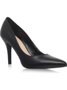 Flagship High Heel Court Shoes, Black - predominant colour: black; occasions: evening, work; material: leather; heel height: high; heel: stiletto; toe: pointed toe; style: courts; finish: plain; pattern: plain; wardrobe: investment; season: a/w 2016