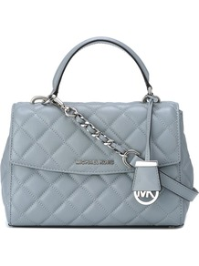 'ava' Tote, Women's, Blue - predominant colour: pale blue; secondary colour: silver; occasions: casual, creative work; type of pattern: standard; style: tote; length: handle; size: standard; material: leather; embellishment: quilted; pattern: plain; finish: plain; season: a/w 2016