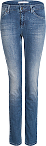 Sienna Slim Denim Jeggings - length: standard; pattern: plain; waist: high rise; pocket detail: traditional 5 pocket; style: slim leg; predominant colour: denim; occasions: casual; fibres: cotton - stretch; jeans detail: dark wash; texture group: denim; pattern type: fabric; pattern size: standard (bottom); wardrobe: basic; season: a/w 2016