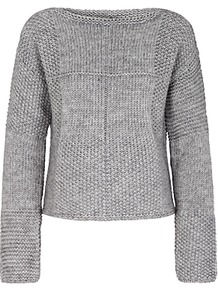 Multi Stitch Jumper, Light Grey - pattern: plain; style: standard; predominant colour: light grey; occasions: casual; length: standard; fibres: wool - mix; fit: standard fit; neckline: crew; sleeve length: long sleeve; sleeve style: standard; texture group: knits/crochet; pattern type: knitted - fine stitch; wardrobe: basic; season: a/w 2016