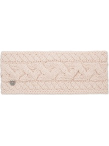 Cable Knit Wool Blend Headband, Women's, Freshwater Pearl M - predominant colour: ivory/cream; occasions: casual; type of pattern: standard; size: standard; material: knits; pattern: knit; style: headband; wardrobe: basic; season: a/w 2016