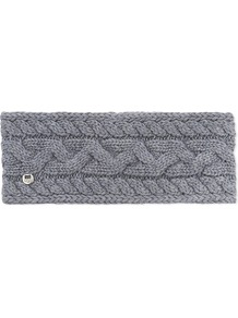 Cable Knit Wool Blend Headband, Women's, Steel Heather M - predominant colour: mid grey; occasions: casual; type of pattern: standard; size: standard; material: knits; pattern: knit; style: headband; wardrobe: basic; season: a/w 2016
