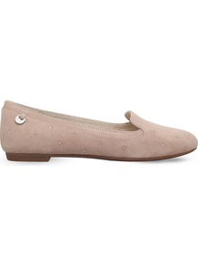 Bentlie Swarovski Embellished Suede Slippers, Women's, Eur 36 / 3 Uk Women, Beige - predominant colour: nude; occasions: casual, work, creative work; material: suede; heel height: flat; toe: round toe; style: ballerinas / pumps; finish: plain; pattern: plain; wardrobe: basic; season: a/w 2016