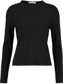 Wool Sweater Black - neckline: round neck; pattern: plain; style: standard; predominant colour: black; occasions: casual, work, creative work; length: standard; fibres: wool - 100%; fit: standard fit; sleeve length: long sleeve; sleeve style: standard; texture group: knits/crochet; pattern type: knitted - fine stitch; wardrobe: basic; season: a/w 2016