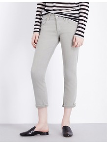Emerson High Rise Stretch Denim Jeans, Women's, Green - style: skinny leg; pattern: plain; waist: high rise; pocket detail: traditional 5 pocket; predominant colour: light grey; occasions: casual; length: calf length; fibres: cotton - stretch; texture group: denim; pattern type: fabric; season: a/w 2016; wardrobe: highlight