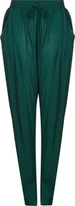 Lois Trouser Portia Green - length: standard; pattern: plain; style: tracksuit pants; waist detail: belted waist/tie at waist/drawstring; waist: mid/regular rise; predominant colour: emerald green; occasions: casual, creative work; fibres: polyester/polyamide - 100%; fit: baggy; pattern type: fabric; texture group: other - light to midweight; season: a/w 2016; wardrobe: highlight