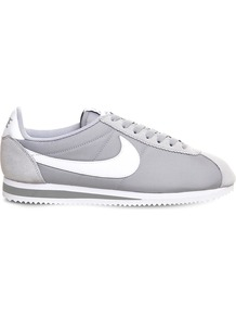 Cortez Og Nylon Trainers, Women's, 6.5, Wolf Grey White - secondary colour: white; predominant colour: light grey; occasions: casual; material: fabric; heel height: flat; toe: round toe; style: trainers; finish: plain; pattern: plain; multicoloured: multicoloured; wardrobe: basic; season: a/w 2016