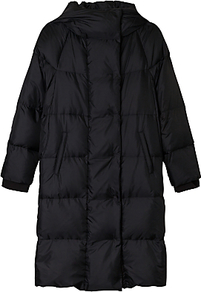 Burundi Puffer Jacket, Dark Grey - sleeve style: puffed; pattern: plain; collar: funnel; fit: loose; length: mid thigh; predominant colour: charcoal; occasions: casual; fibres: polyester/polyamide - 100%; sleeve length: long sleeve; collar break: high; pattern type: fabric; texture group: other - bulky/heavy; style: puffa; wardrobe: basic; season: a/w 2016