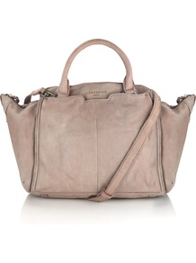 Fuji Bag - predominant colour: blush; occasions: casual, creative work; type of pattern: standard; style: tote; length: handle; size: standard; material: leather; pattern: plain; finish: plain; wardrobe: investment; season: a/w 2016