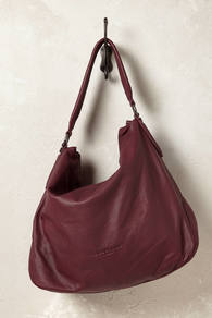 Naomi Hobo Bag - predominant colour: burgundy; occasions: casual, creative work; type of pattern: standard; length: shoulder (tucks under arm); size: oversized; material: leather; pattern: plain; finish: plain; style: hobo; season: a/w 2016; wardrobe: highlight