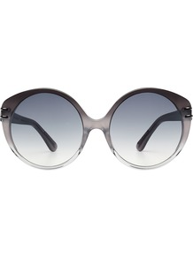 Farrah Round Sunglasses None - predominant colour: charcoal; secondary colour: light grey; occasions: casual, holiday; style: round; size: standard; material: plastic/rubber; pattern: plain; finish: plain; wardrobe: basic; season: a/w 2016