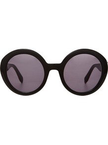 Am0002 S Sunglasses Black - predominant colour: black; occasions: casual, holiday; style: round; size: large; material: plastic/rubber; pattern: plain; finish: plain; wardrobe: basic; season: a/w 2016
