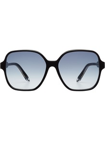 Iconic Square Gradient Sunglasses Black - predominant colour: black; occasions: casual, holiday; style: square; size: large; material: plastic/rubber; pattern: plain; finish: plain; wardrobe: basic; season: a/w 2016