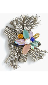Crystal Pin - secondary colour: blush; predominant colour: silver; style: pin; size: standard; material: chain/metal; finish: metallic; embellishment: jewels/stone; occasions: creative work; season: a/w 2016