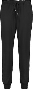 Stretch Modal Track Pants Black - length: standard; pattern: plain; style: tracksuit pants; waist detail: elasticated waist; waist: mid/regular rise; predominant colour: black; occasions: casual, creative work; fibres: viscose/rayon - stretch; fit: tapered; pattern type: fabric; texture group: jersey - stretchy/drapey; pattern size: standard (bottom); wardrobe: basic; season: a/w 2016
