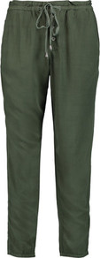 Canvas Straight Leg Pants Army Green - length: standard; pattern: plain; pocket detail: pockets at the sides; waist detail: belted waist/tie at waist/drawstring; waist: mid/regular rise; predominant colour: dark green; occasions: casual; fibres: viscose/rayon - 100%; fit: straight leg; pattern type: fabric; texture group: woven light midweight; style: standard; pattern size: standard (bottom); season: a/w 2016; wardrobe: highlight