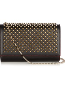 Paloma Spike Embellished Leather Clutch - secondary colour: gold; predominant colour: black; occasions: evening, occasion; type of pattern: standard; style: clutch; length: hand carry; size: standard; material: leather; embellishment: studs; pattern: plain; finish: plain; season: a/w 2016; wardrobe: event